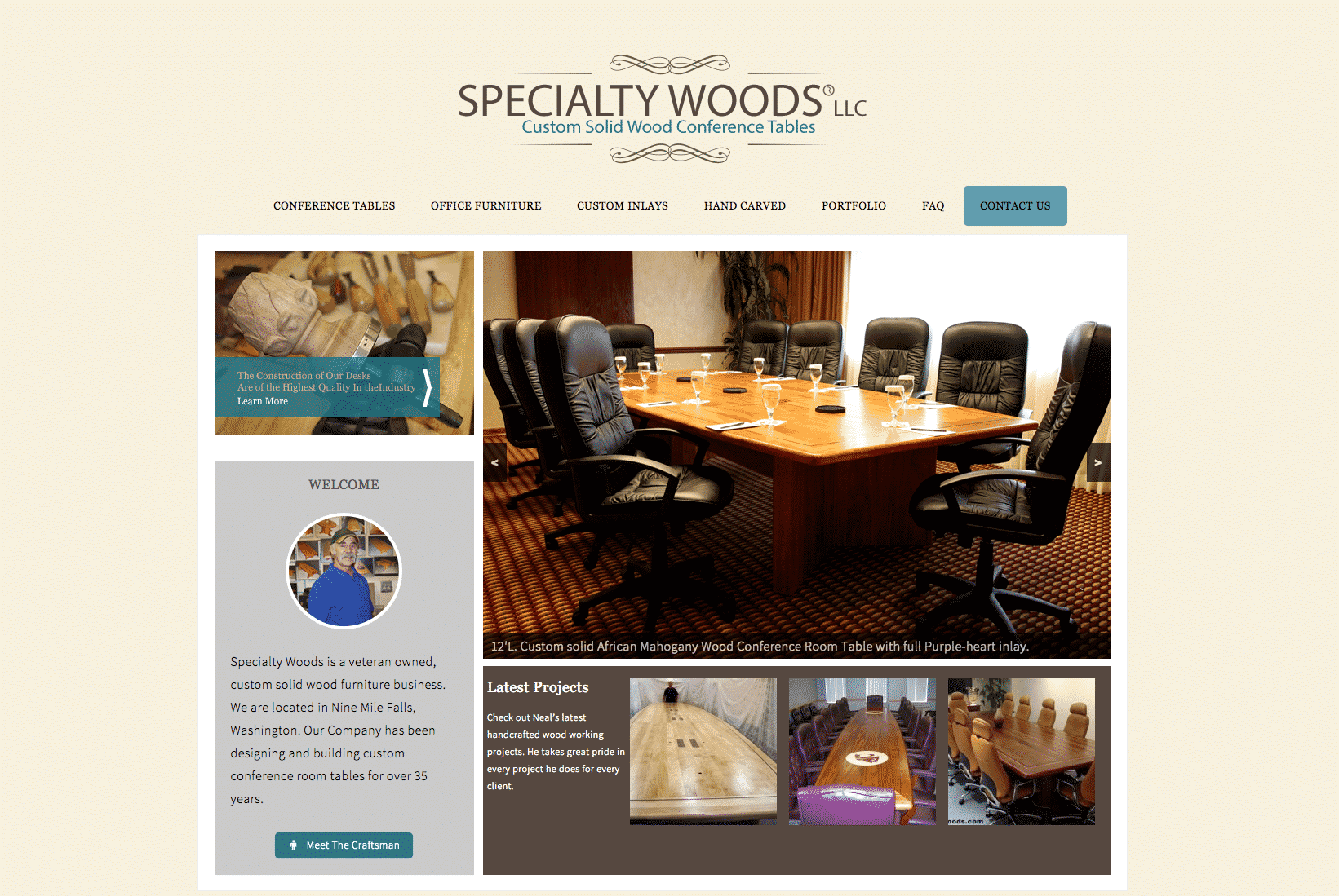 Custom Furniture Website